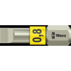 Біта WERA 3800/1 TS для гвинтів з шліцом, нержавіюча сталь, 05071000001, 0.8×5.5×25