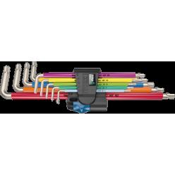 Набір Г-подібних ключів з фіксуючою функцією 3967/9 TX SXL Multicolour HF Stainless 1, нержавіюча сталь, 05022689001