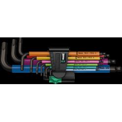 Набір Г-подібних ключів WERA, 950/9 Hex-Plus Multicolour 1, метричних, BlackLaser, 05022089001