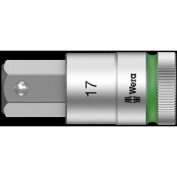 """Викруткова головка Zyklop 8740 C HF, з приводом 1/2"""", з фіксуючою функцією, 17.0x60.0мм, 05003828001"""