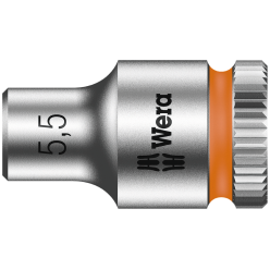 "Торцева головка Zyklop 1/4"" 8790 HMA, 05003504001, 5.5x23.0мм"