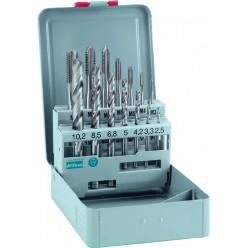 Набір машинних мітчиків ALPEN HSS-E DIN, M3-M12, 14 одиниць 0070800014100