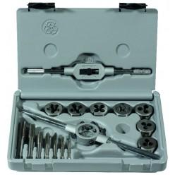 Набір для нарізання різьби ALPEN HSS-G, мітчики+плашки+тримачі M3-M12, 16 одиниць 0070800016100