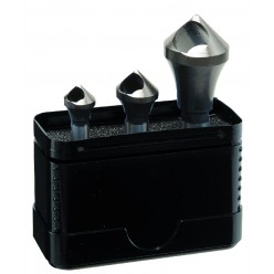 Набір зенкерів 90° з поперечним каналом ALPEN HSS Cobalt, Ø2-15mm, 3 одиниці 0229100003100