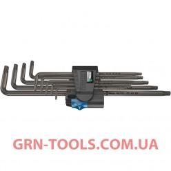 Набір Г-подібних подовжених ключів з функцією фіксації WERA 967/9 TX XL HF 1, 05024450001