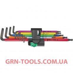 Набір Г-подібних подовжених ключів WERA 967/9 TX XL Multicolour 1, 05024480001