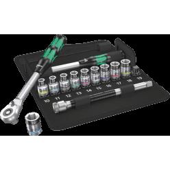 """Набір інструменту з подовжувачем Wera  8006 SC 1 Zyklop Hybrid 1/2""""  05004090001"""