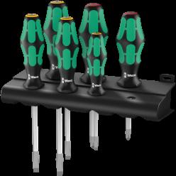 Набір викруток підставка Wera Kraftform Plus Lasertip 334 SK/6 Rack 05007680001