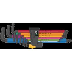 Набір Г-подібних ключів WERA, 950/9 Hex-Plus Multicolour Imperial 2, дюймовых, BlackLaser, 05022640001
