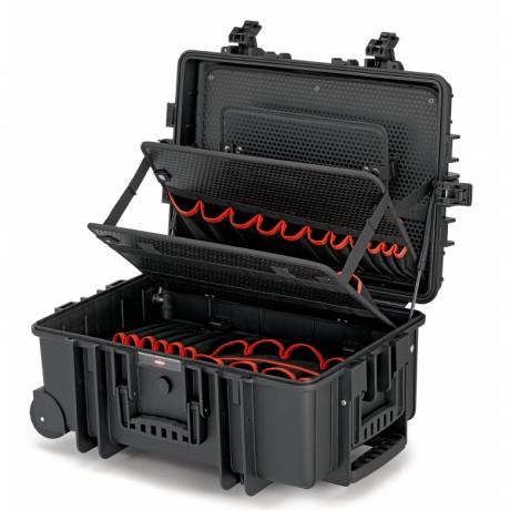 """Валіза для інструментів з вбудованими роликами і телескопічною ручкою """"Robust45"""" KNIPEX 00 21 37 LE, порожня"""