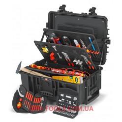 """Валіза з інструментами із вбудованими роликами і телескопічною ручкою """"Robust45"""" Electric 63 позиції KNIPEX 00 21 37"""