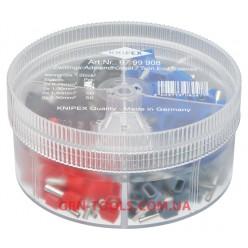 Набір ізольованих контактних гільз KNIPEX 97 99 908, (0.75-2.5 мм², подвійне підключення)