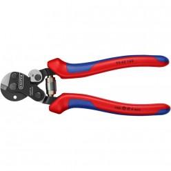 Ножиці для різання особливо міцного дротяного троса 160мм, KNIPEX 95 62 160