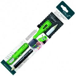 Кофр з точилкою ударостійкий для олівців, PICA Pocet 505/03, (+1 чорно/білий олівець)