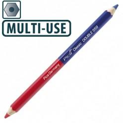Олівець універсальний Pica Classic DOUBLE 559, мультиматеріал синьо/червоний