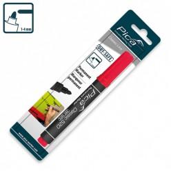 Маркер перманентний Pica Classic 520/40 Permanent Marker bullet tip, червоний
