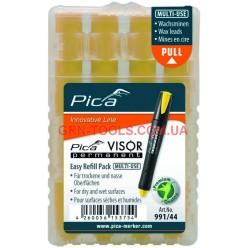 Змінні грифеля, 991/44 для PICA VISOR permanent Longlife Industrial Marker, жовті
