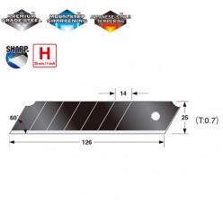 Сегментні леза 25 мм  TAJIMA DORA  Razar Black Blades CB65RB
