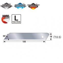 Лезо суцільне 18мм TAJIMA SOLID Endura-Blade LCB50SN, 10 шт.