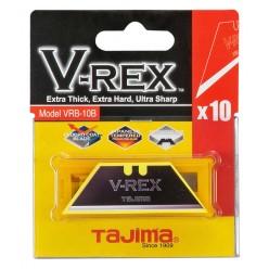 Леза трапецеподібні TAJIMA V-REX  Razar Black, VRB-10B, 10шт