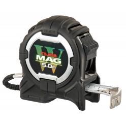 Рулетка будівельна ударостійка, два магніти TAJIMA W-MAG, WM550MR - 5м×25мм