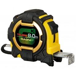 Рулетка будівельна ударостійка, екстра стрічка, TAJIMA G3 LOCK 27, G3M780MW - 8м×27мм
