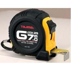Рулетка будівельна ударостійка TAJIMA G-LOCK, G5P70MY - 7м×25мм