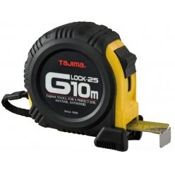 Рулетка будівельна ударостійка TAJIMA G-LOCK, G5PA0MY - 10м×25мм
