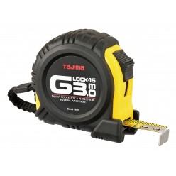 Рулетка будівельна ударостійка TAJIMA G-LOCK, G6P30MY - 3м×16мм