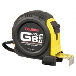 Рулетка будівельна ударостійка TAJIMA G-LOCK, G5P80MY - 8м×25мм