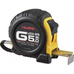 Рулетка будівельна ударостійка TAJIMA G-LOCK, G5P50MY - 5м×25мм