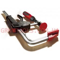 Струбцина для роботи однією рукою з двокомпонентною ручкою з пластику, BESSEY EHZ30-2K, 300×100мм