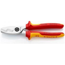 Ножницы для резки кабелей с двойными режущими кромками KNIPEX 95 16 200