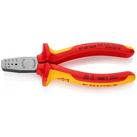 Інструмент для обжима тонкостінних контактних гільз KNIPEX 97 68 145 A
