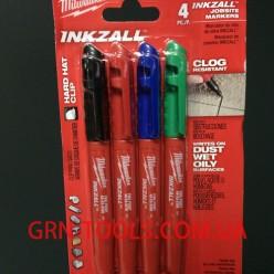 Набір кольорових будівельних маркерів  MILWAUKEE 48223106