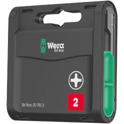 Bit-Box 20 PH упаковка високоякісних біт PH2  WERA 5057750001