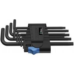 Набір Г-образних ключів з фіксуючою функцією, Wera 967 L/9 TORX® HF BlackLaser 05024244001