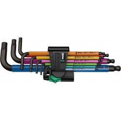 Набір Г-подібних ключів, метричних, Wera 950 SPKL/9 SM N SB Multicolour, BlackLaser 05073593001