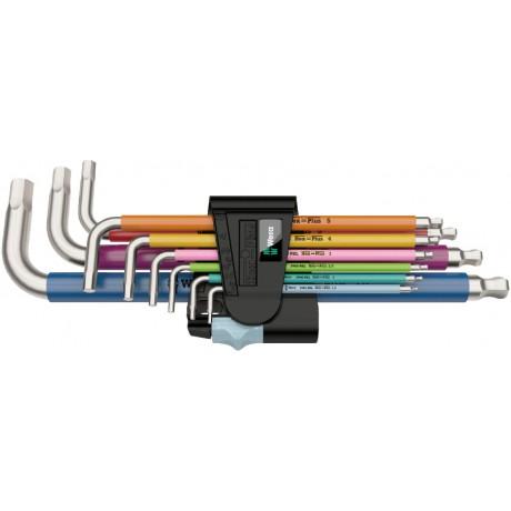 Набір Г-подібних ключів, метричних, нержавіюча сталь WERA 3950 SPKL/9 SM Multicolour 05022669001