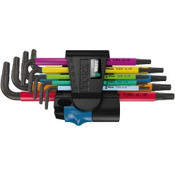 Набір Г-подібних ключів з функцією фіксації WERA  967 SL/9 TORX® HF Multicolour  05024179001