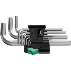 Набір Г-образних ключів, метричних, хромованих, Wera 950/9 SM N 05021406001
