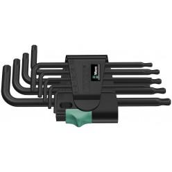 Набір Г-образних ключів, Wera 967 PKL/9 TORX®, BlackLaser 05024242001