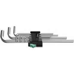 Набір Г-образних ключів, метричних  хромованих, Wera 950 L/9 SM N 05021909001