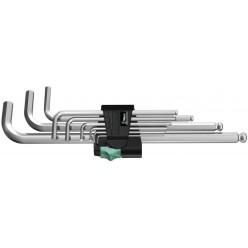 Набір Г-образних ключів, метричних, хромованих, Wera 950 PKL/9 SM N 05022087001