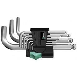 Набір Г-подібних ключів, метричних, хромованих, Wera 950 PKS/9 SM N 05133163001