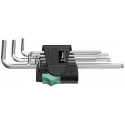 Набір Г-образних ключів, метричних, хромованих, Wera 950 PKL/7B SM Magnet 05022101001