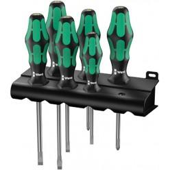 Набір викруток +підставка, Wera Kraftform Plus Lasertip 334/355/6  05105656001