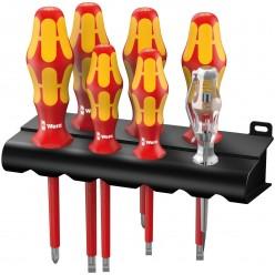 Набір викруток, індикатор напруги, підставка, Wera 160 i/7 Rack Kraftform Plus Серия 100 05006147001