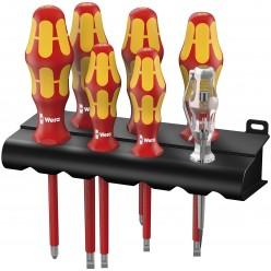 Набір викруток, індикатор напруги, підставка, Wera 160 i/165 i/7 Rack Kraftform Plus Серия 100 05006148001